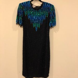 Sequined Silk party dress